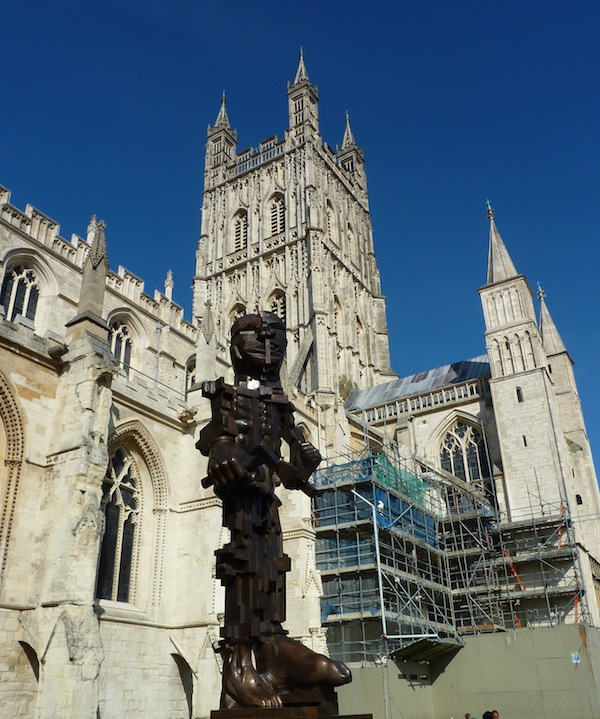 tile signing at Gloucester Cathedral 2013