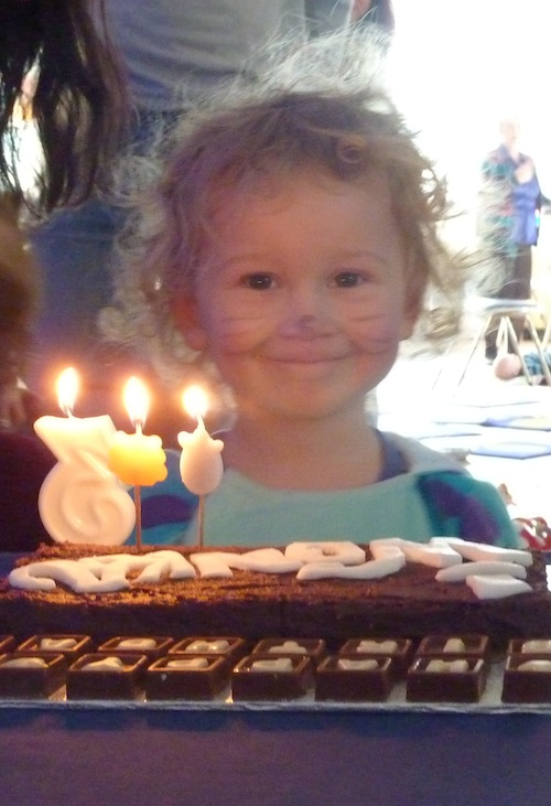 a third birthday party
