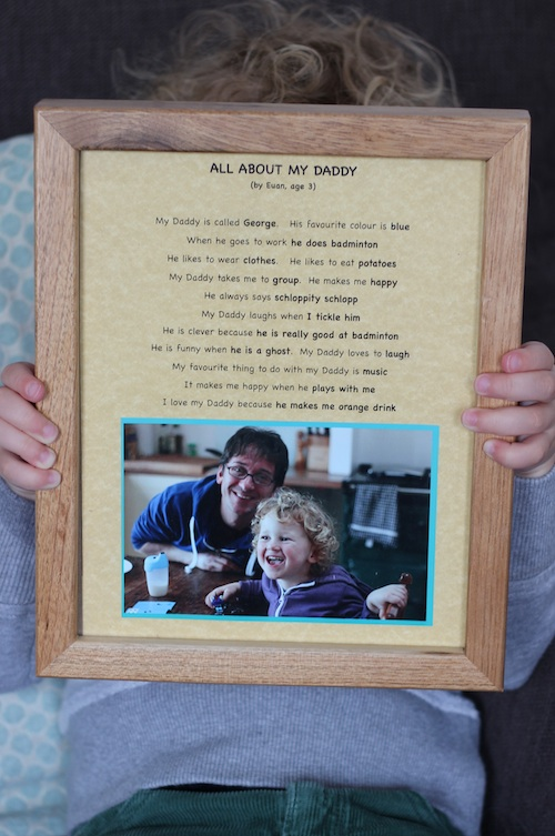 a most happy Father's Day 2015 (15 'all about my Daddy' questions)