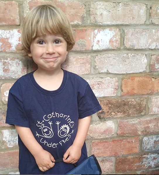 Luca first day at St Catharines under 5s - nipitinthebud.co.uk