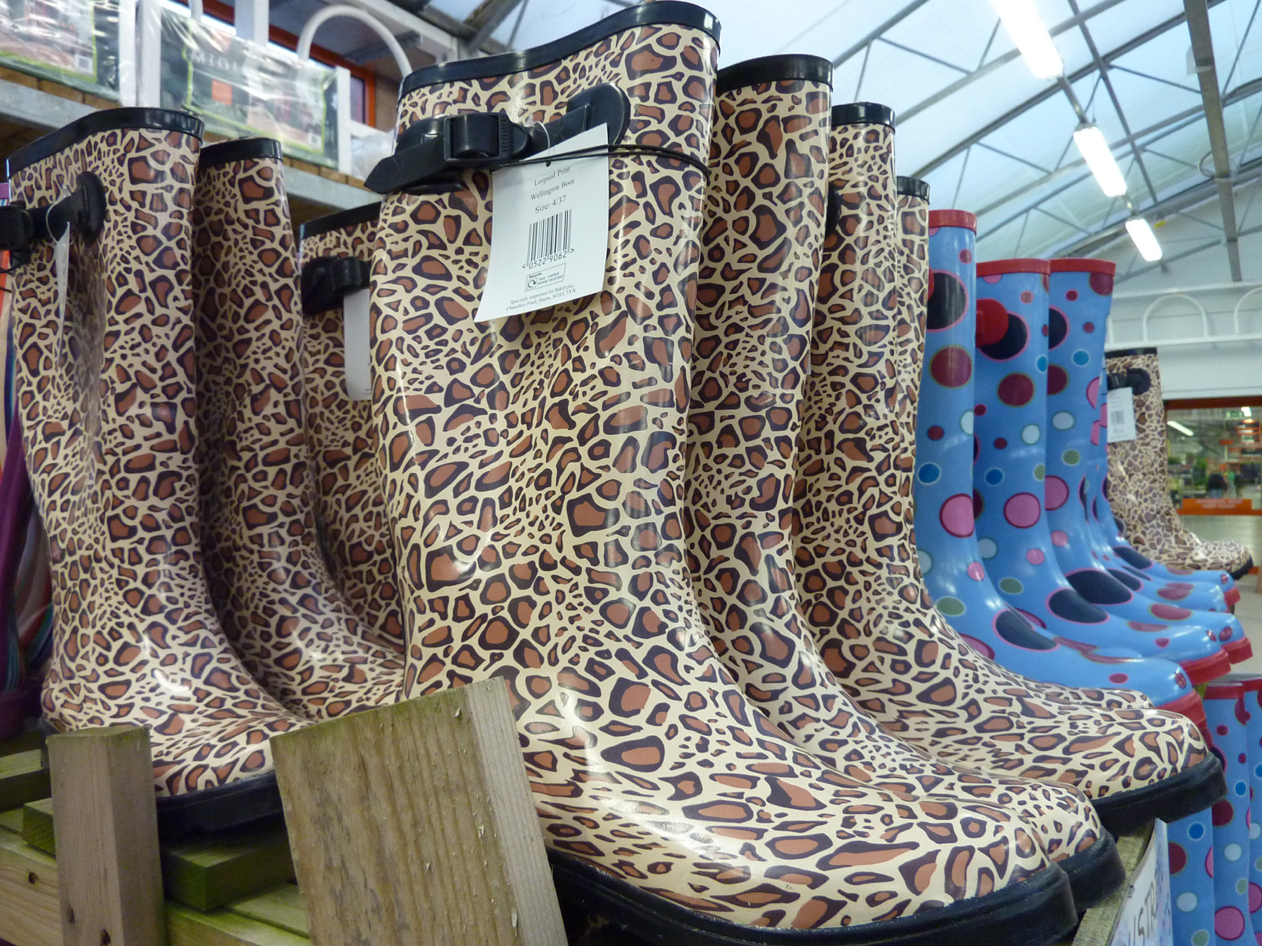 wellies at B&Q