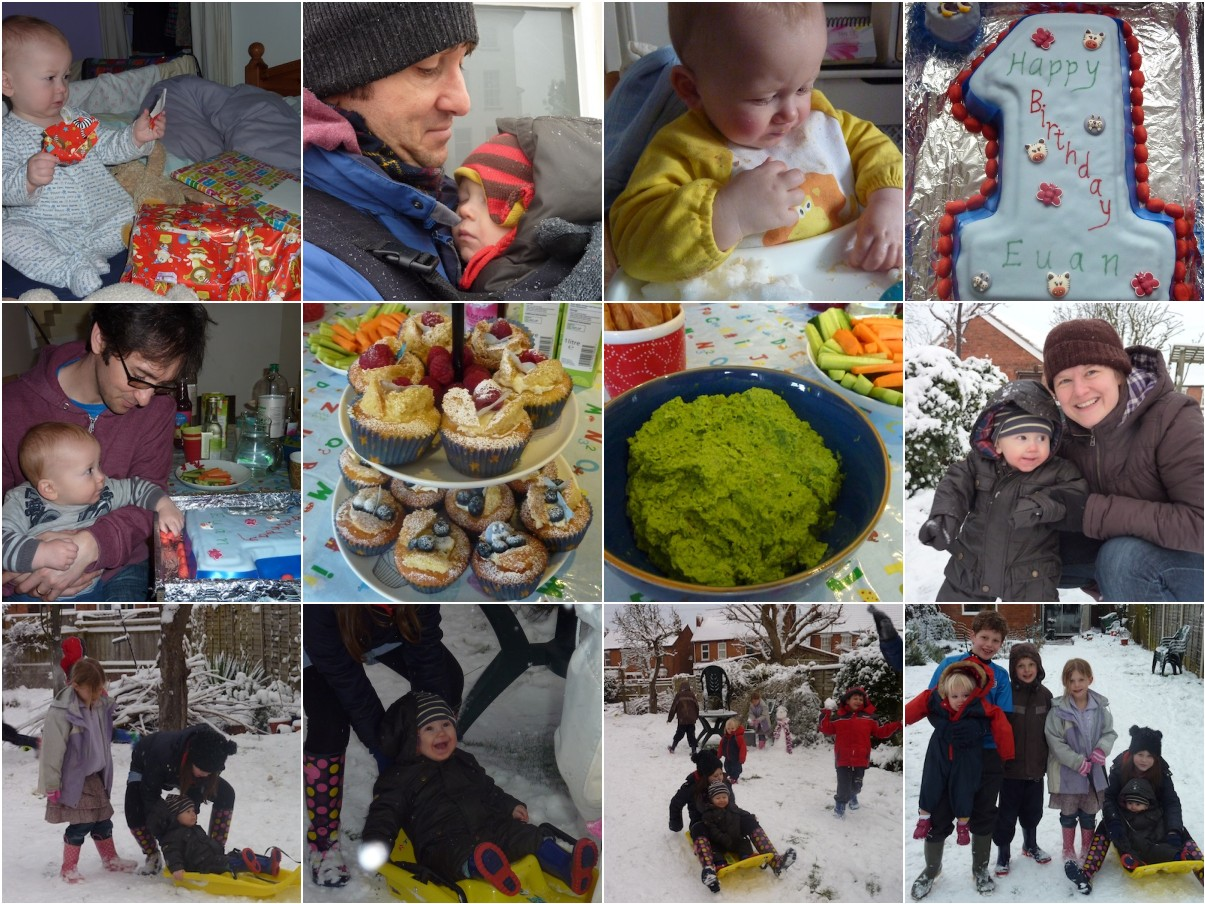Euan's first birthday in pictures 2012