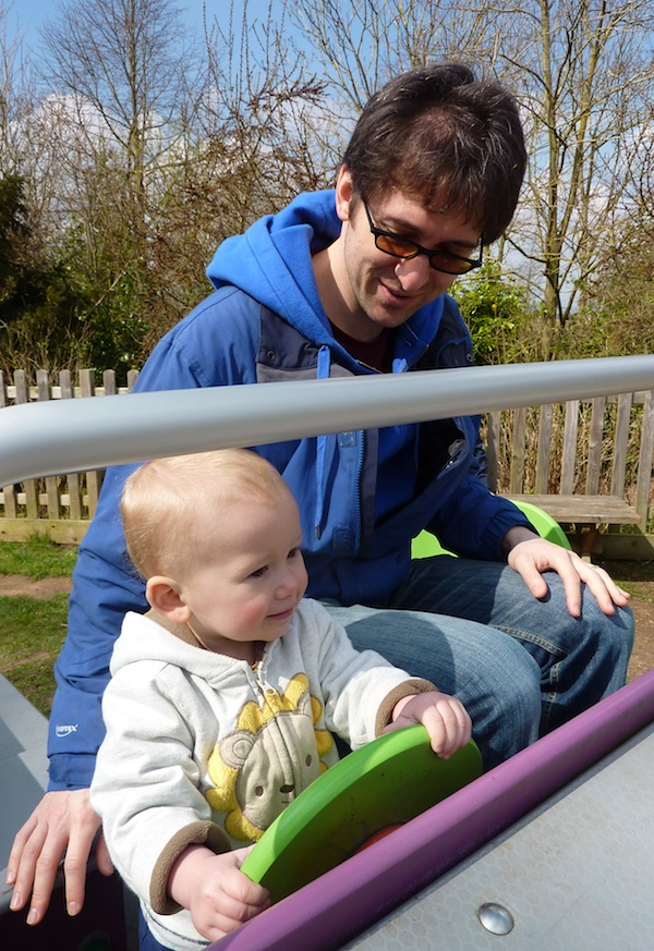 20-4-13 - Croombe Park_E and Daddy in car 4B