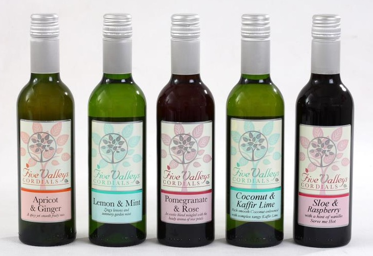 Five Valleys cordial bottles