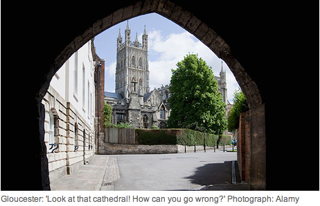 Walk to work - Glos Cathedral article