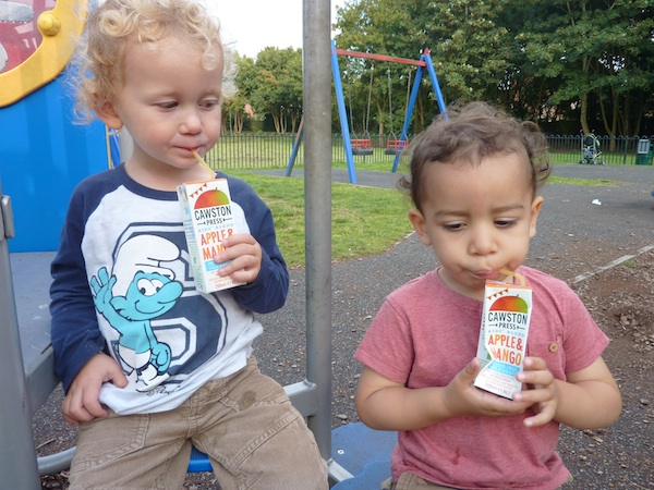 Cawston juice_sharing with Noah 4B