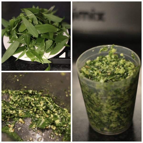 Wild garlic pesto collage 4B