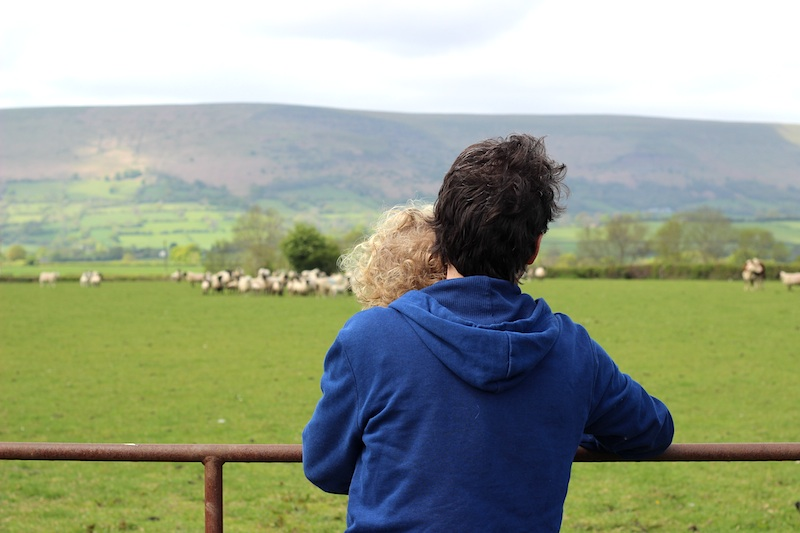 16-5-15 - Farm cottage_G and E looking at the Black Mountains 4B