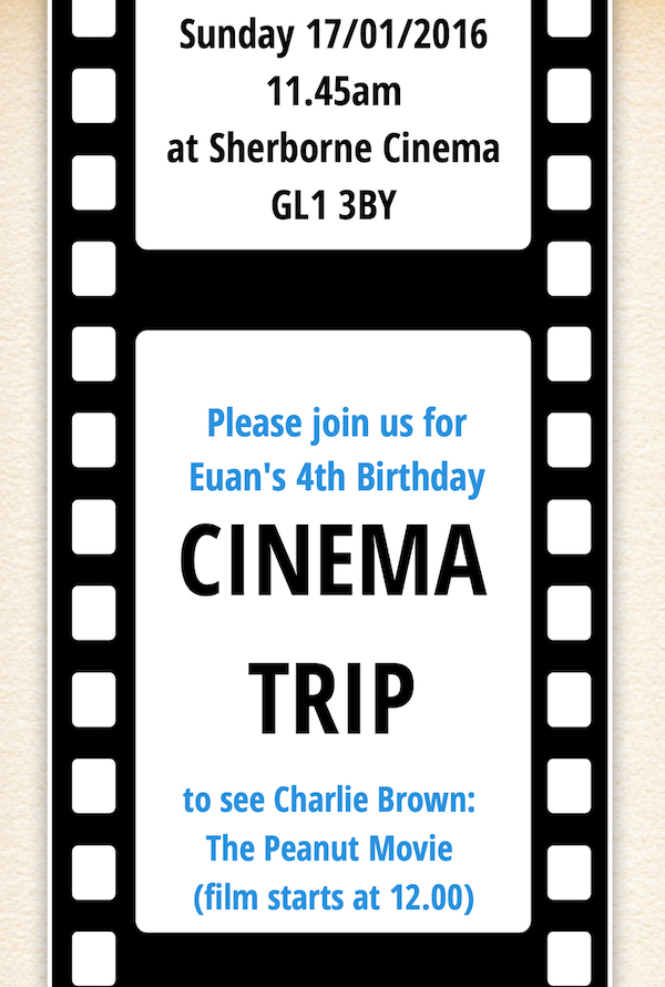 Euan's party invite 4B