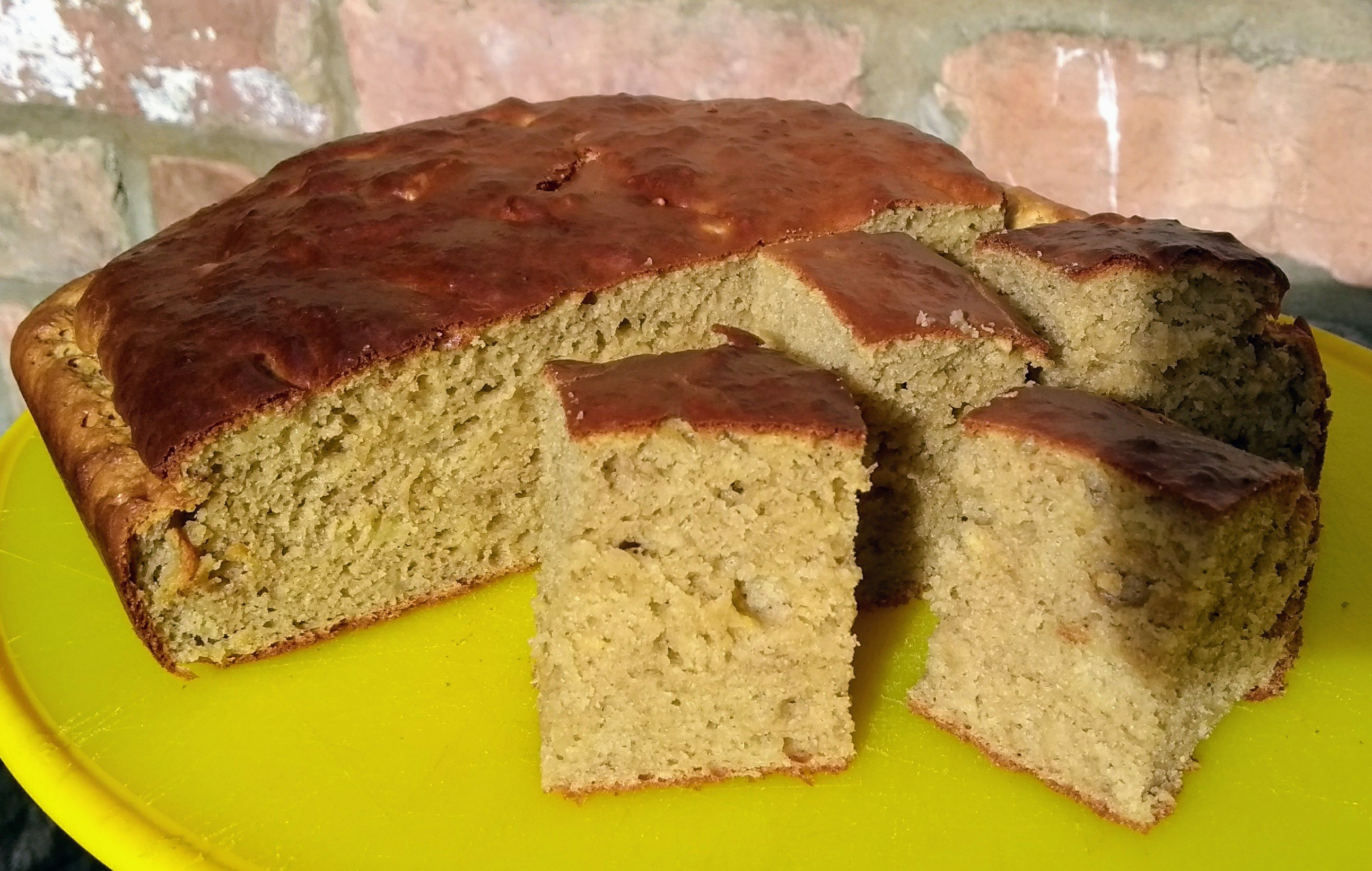 baking with chickpea flour – gluten free banana cake
