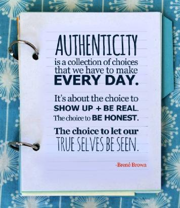 Brene Brown Authenticity quote
