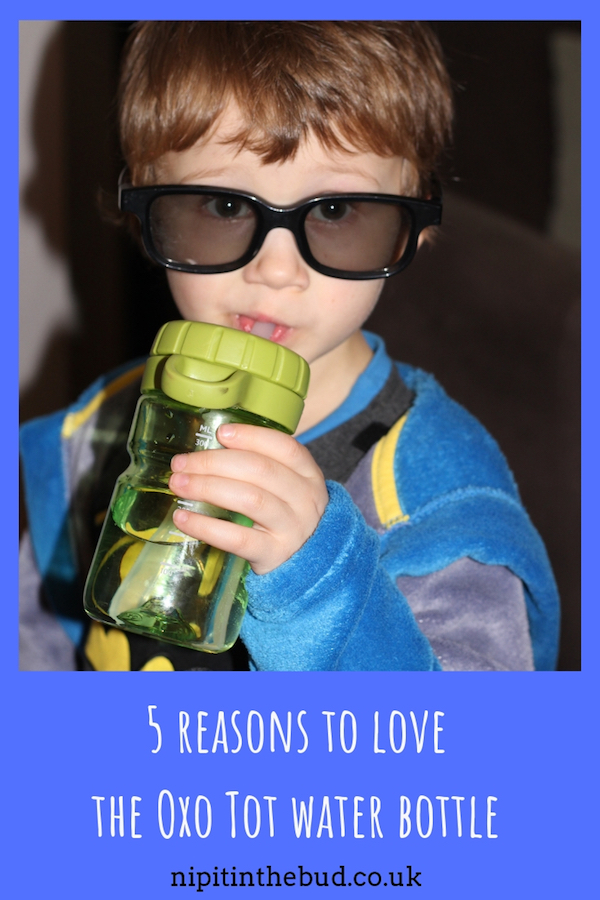 PIN - 5 reasons to love the Oxo Tot twist top water bottle - nipitinthebud.co.uk