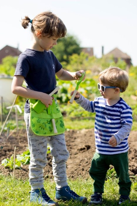 gardening with kids – sunny Saturday mornings on the plot