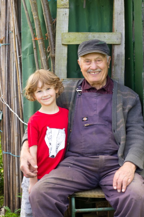 gardening with kids – watering, wigwam making and wise words from an old friend