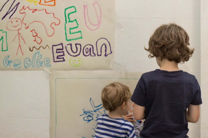 artists at work with Little Brian paint sticks - nipitinthebud.co.uk-5
