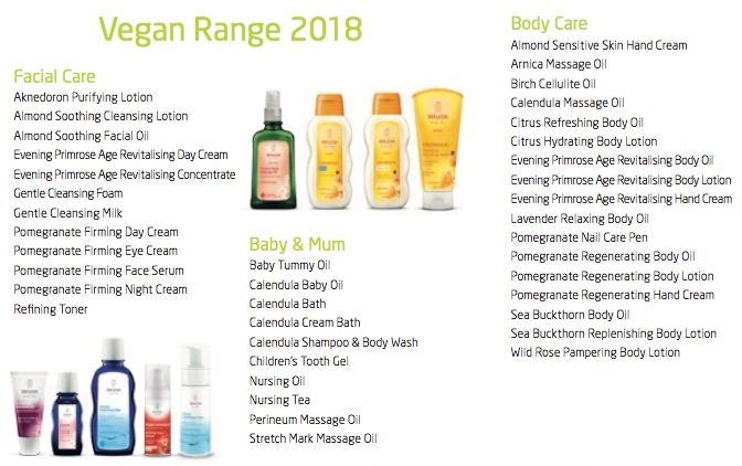 Weleda vegan range examples - nipitinthebud.co.uk