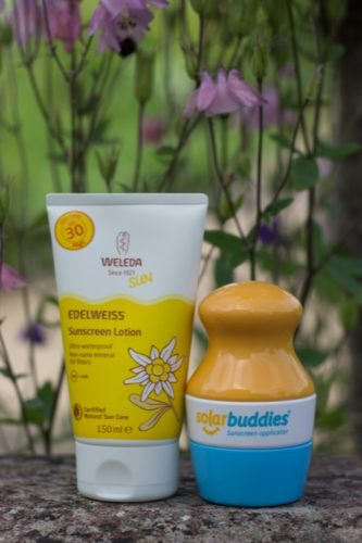 Solar buddies and Weleda's Edelweiss sunscreen - nipitinthebud.co.uk